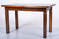 Стол Классик плюс (Атлант) светлый орех 120 обеденный раскладной на четырех ногах