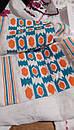 Блуза синяя бохо вышитая, вышиванка лен,в этностиле, фото 6