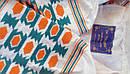 Блуза синяя бохо вышитая, вышиванка лен,в этностиле, фото 5