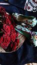 Блузка красная бохо вышитая, вышиванка лен,в этностиле, фото 3
