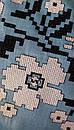 Голубая блузка бохо вышитая, вышиванка, лен, этно стиль, Bohemia, фото 6