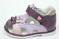 Детские босоножки для девочки летние  ТОМ.М фиолетовые (20-25)