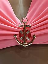 Купальник 0202 Экстрапуш рожево-персиковий ,йде на наші 44,46 розміри., фото 2