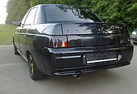 Полка задняя 2110 (тюнинг) черная (кож.зам)
