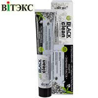 """Витэкс """"Black Clean"""" Зубная паста Отбеливание и антибактериальная защита Угольная линия 85г"""