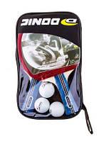 Комплект: Ракетки 2 шт (3-star, 3 звезды) и мячики для настольного тенниса