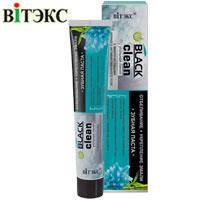 """Витэкс """"Black Clean"""" Зубная паста Отбеливание и укрепление эмали Угольная линия 85г, фото 2"""