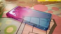 Чехол для Samsung Galaxy J7 2015 J700 TPU пурпурно-синий
