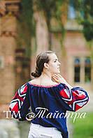 Блузка открытые плечи, бохо, вышитая, этно стиль,Bohemia