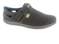 Туфли коричневый мужские на липучке Cardinal D-6