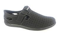 Туфли черный мужские на липучке Cardinal D-6