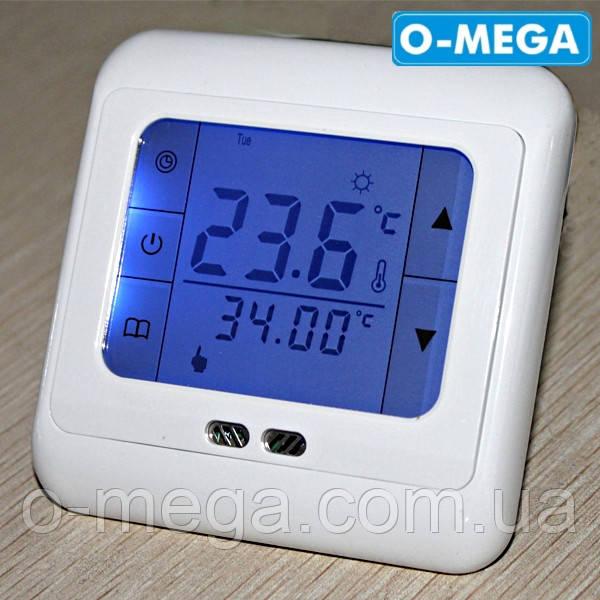 Терморегулятор сенсорный недельный программируемый Floureon C07 H3 для теплого пола с датчиком температуры