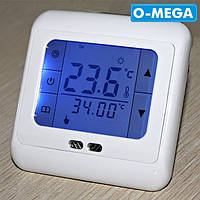 Терморегулятор сенсорный недельный программируемый Floureon C07 H3 для теплого пола с датчиком температуры, фото 1