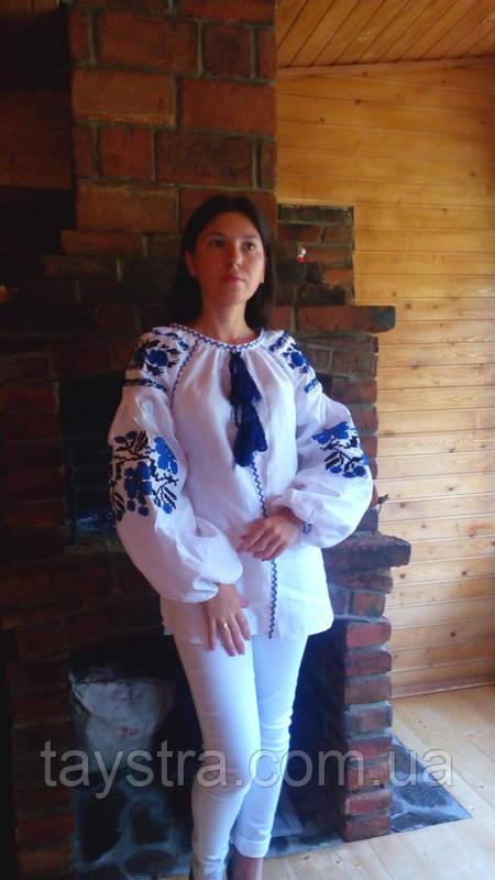 Блуза бохо вышитая женская, белый лен, этно стиль,Bohemia