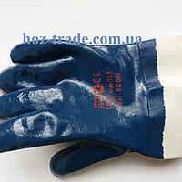 Перчатка масло-бензостойкая нитрил с широким манжетом