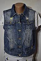 Женские джинсовые безрукавки