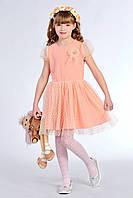 Очаровательное детское платье для девочки персикового цвета