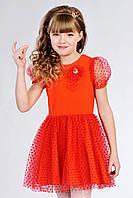 Очаровательное детское платье для девочки красного цвета
