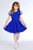 Очаровательное детское платье для девочки цвета элекрик