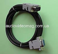 Удлинитель нуль-модемного кабеля (com port) гнездо-штекер, длина 1,8 метра