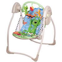 Кресло-качели Bambi M 2129-3 Бежево-зеленый