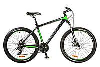 "Велосипед 26"" Leon HT-80 AM 14G DD рама-20"" Al черно-зеленый (м) 2017"