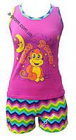 Пижама женская шорты+майка размер 42-52, расцветка в ассортименте