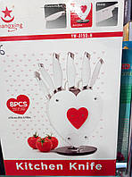 Набор кухонных ножей 8 предметов+подставка