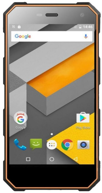 "Sigma mobile X-treame PQ24 black-orange IP68, 1/8 Gb, 5"", MT6580, 3G"