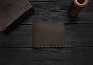 Мужской кожаный бумажник ручной работы VOILE vl-mw2-brn коричневый, фото 2