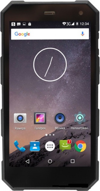 "Sigma mobile X-treame PQ24 black IP68, 1/8 Gb, 5"", MT6580, 3G"