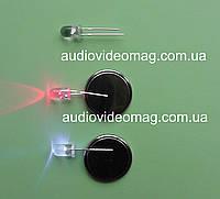 Светодиод 3V 5 мм мигающий, красно-синий