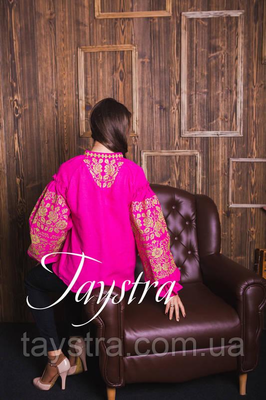 Вышиванка лен блуза вышитая в Бохо-стиле, этно, бохо