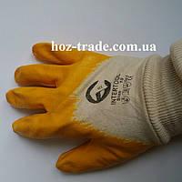 Перчатки  нитриловые желтые  Intertool (размер 8,9,10), фото 1