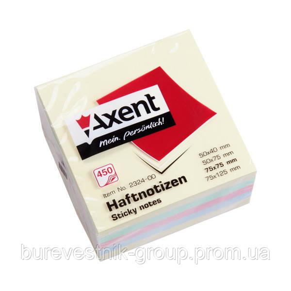 Блок бумаги Axent 2324-00-A с липким слоем