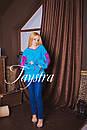 Вышиванка лен бохо блузка бирюзовая вышитая, этно стиль, Bohemian, фото 3