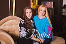 Вышиванка лен бохо блузка бирюзовая вышитая, этно стиль, Bohemian, фото 10