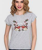 Женская футболка с цветами (5051 sk)