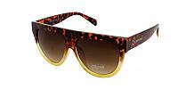 Леопардовые очки женские солнечные бренд Celine