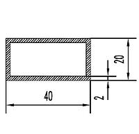Прямоугольная труба 40х20х2 мм