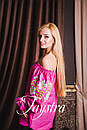 Вышиванка лен бохо блузка розовая вышитая, этно стиль, Bohemian, фото 4