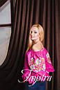 Вышиванка лен бохо блузка розовая вышитая, этно стиль, Bohemian, фото 2