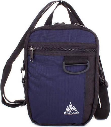 Повседневная, мужская сумка на плечо Onepolar W3023-navy синяя