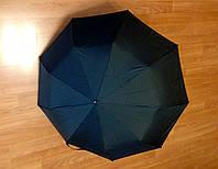 Зонт черный, полуавтомат, 9 спиц