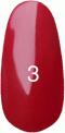 Гель-лак Kodi Professional № 3(100R), Темно-малиновый, эмаль, 8 мл