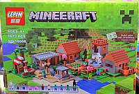 "Конструктор Lepin Minecraft 18008 ""Деревня"" 1673 деталей, аналог Lego 21128"