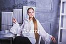 Блузка белая бохо вышитая женская вышиванка, широкий рукав, этно стиль,Bohemia, фото 4