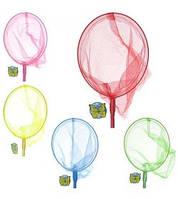 Сачок для бабочек M 0061 U/R длина 90см, длина ручки 70см, диаметр 20см, бамбук, 4 цвета,