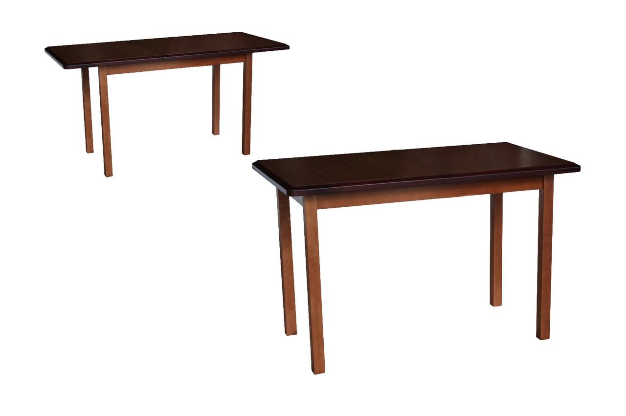 Стол обеденный Сид орех 120(+30)х70х75 деревянный раскладной