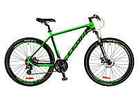 "Велосипед 27.5"" Leon XC-80 AM 14G DD рама-20"" Al черно-зелен. 2017"